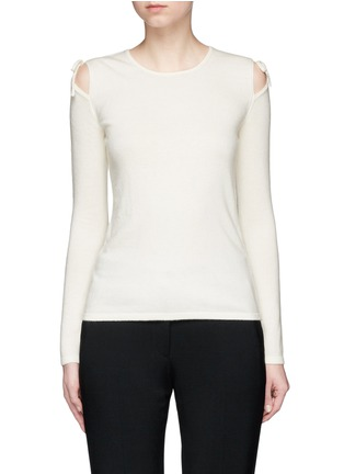 Main View - Click To Enlarge - Elizabeth and James - 'Ryan' cutout shoulder sweater