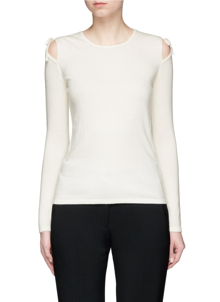 Ryan cutout shoulder sweater by Elizabeth and James