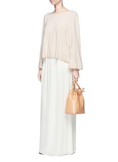 Elizabeth and James'Ember' drawstring waist crepe de Chine maxi skirt