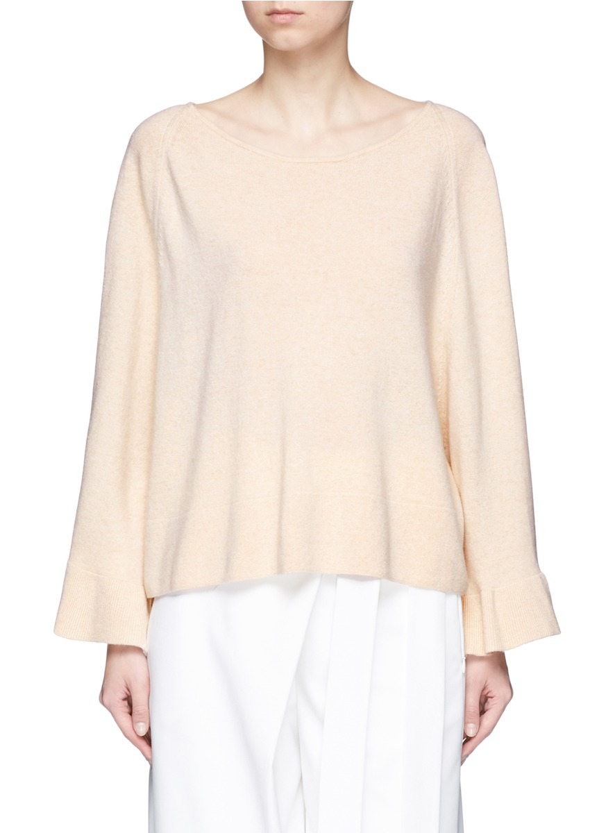 Freja ruffle cuff wool blend sweater by Elizabeth and James