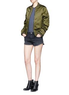 Current/Elliott'The Gam' washed frayed denim shorts