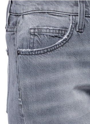 Detail View - Click To Enlarge - Current/Elliott - 'The Fling' knee slit cropped boyfriend jeans