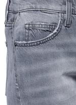 'The Fling' knee slit cropped boyfriend jeans