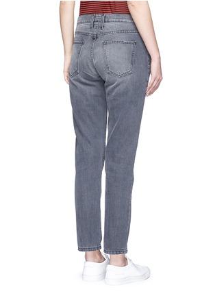 Back View - Click To Enlarge - Current/Elliott - 'The Fling' knee slit cropped boyfriend jeans
