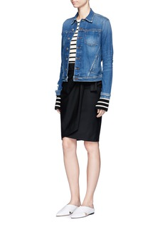 L'Agence 'Celine' distressed denim jacket