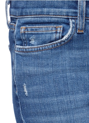 Detail View - Click To Enlarge - L'Agence - 'The Marcelle' distressed cropped jeans