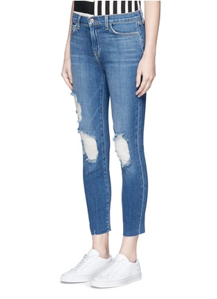 Front View - Click To Enlarge - L'Agence - 'The Marcelle' distressed cropped jeans