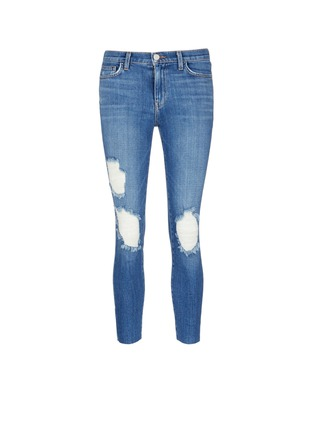 Main View - Click To Enlarge - L'Agence - 'The Marcelle' distressed cropped jeans