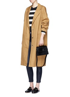 L'Agence'Aurelie' lambskin leather leggings