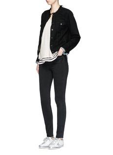 rag & bone/JEANRaw edge collar denim jacket