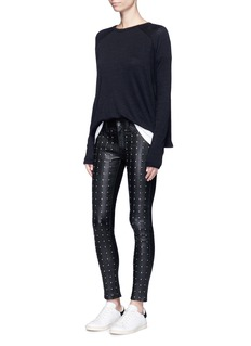 rag & bone/JEAN 'Hyde' stud leather pants