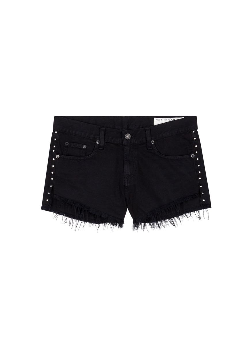 Cut Off stud denim shorts by rag & bone/JEAN