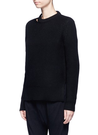 Front View - Click To Enlarge - rag & bone/JEAN - 'Ginnie' chunky rib knit sweater