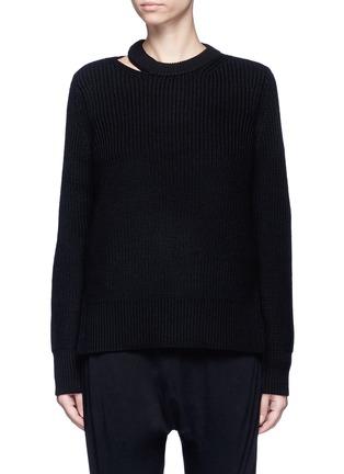 Main View - Click To Enlarge - rag & bone/JEAN - 'Ginnie' chunky rib knit sweater