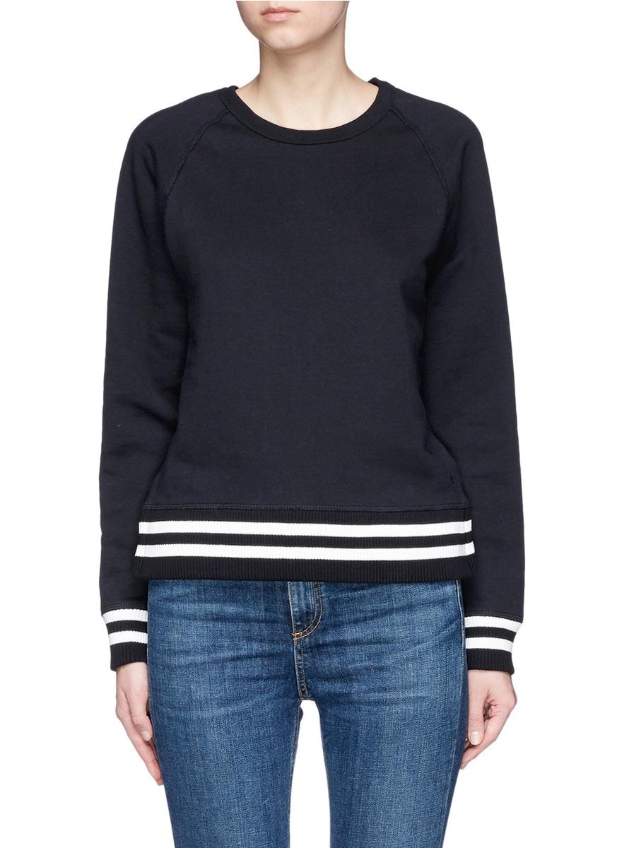 Classic Varsity side split sweatshirt by rag & bone/JEAN