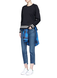 rag & bone/JEAN 'Classic Varsity' side split sweatshirt