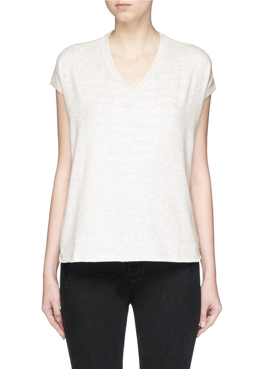 Cozy Vee stretch jersey T-shirt by rag & bone/JEAN
