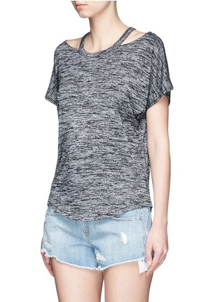 Front View - Click To Enlarge - rag & bone/JEAN - Cutout shoulder short sleeve top