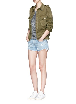 Figure View - Click To Enlarge - rag & bone/JEAN - Cutout shoulder short sleeve top