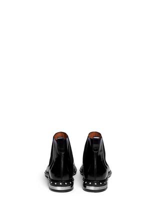 背面 - 点击放大 - GIVENCHY - 铆钉尖头真皮短靴