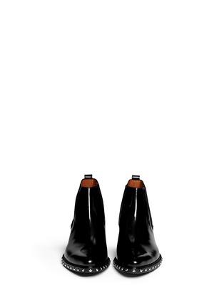模特儿示范图 - 点击放大 - GIVENCHY - 铆钉尖头真皮短靴