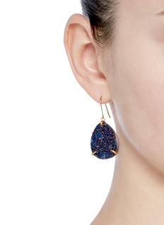Niin'Zayah Nocturna' drusy agate earrings