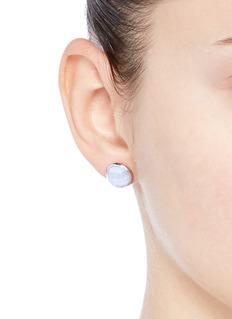 Niin'Ajei' faceted agate stud earrings