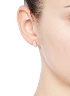 Niin'Ajei' rose quartz stud earrings
