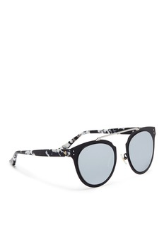 Stephane + Christian 'Adora' shell effect temple metal front mirror sunglasses