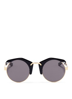 Stephane + Christian x J KOO 'No.6' acetate rim round sunglasses