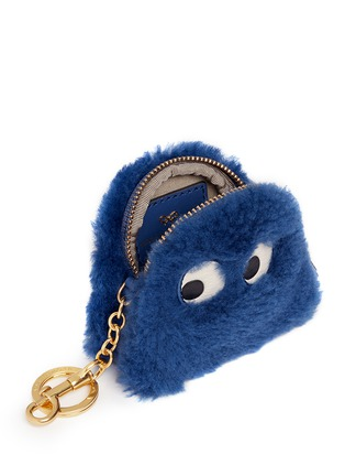 Detail View - Click To Enlarge - Anya Hindmarch - 'Ghost' shearling coin pouch