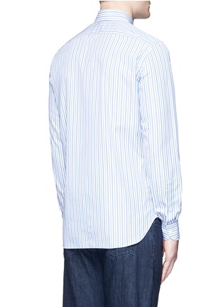 Back View - Click To Enlarge - ISAIA - 'Milano' stripe cotton shirt