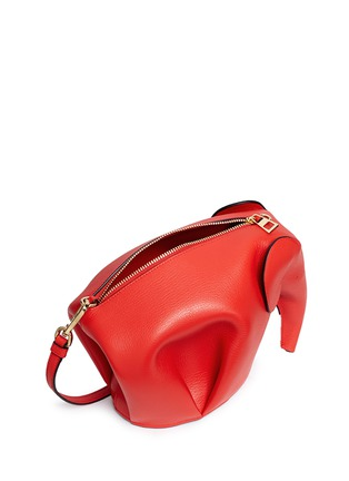 Detail View - Click To Enlarge - Loewe - 'Elephant' mini leather shoulder bag