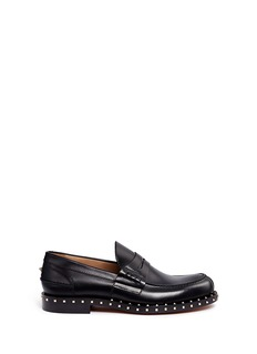 Valentino'Rockstud Soul' leather penny loafers