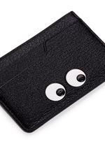 'Eyes' embossed leather cardholder