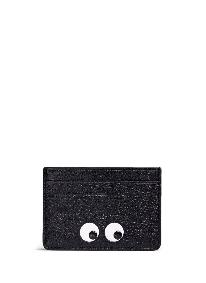 Eyes embossed leather cardholder by Anya Hindmarch