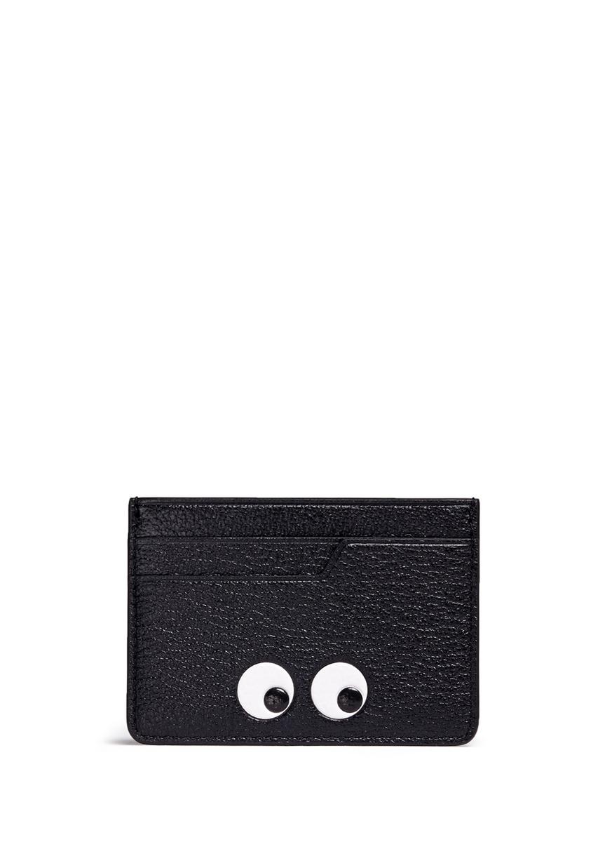 anya hindmarch female eyes embossed leather cardholder