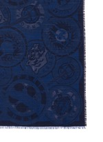 Medallion jacquard silk-wool scarf