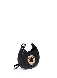 Loewe Joyce' small logo plate round leather shoulder bag