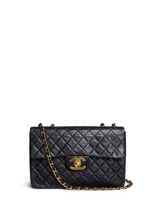 Main View - Click To Enlarge - Vintage Chanel - Quilted lambskin leather maxi flap bag