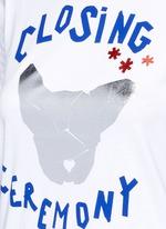 Slogan French bulldog print T-shirt