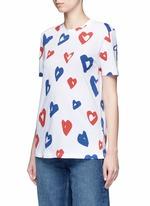 'Heart' print jersey T-shirt