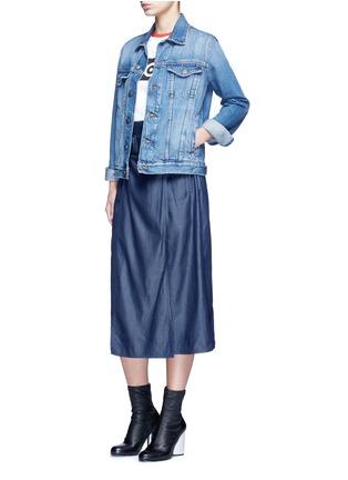 Figure View - Click To Enlarge - Etre Cecile  - 'Score' colourblock sleeve cotton jersey T-shirt