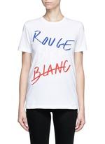 'Rouge Bleu Blanc' slogan print T-shirt