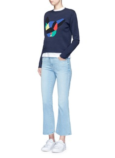 Etre Cecile  'Olympic Dog' collage intarsia sweater