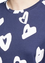 'Heart' print jersey T-shirt dress