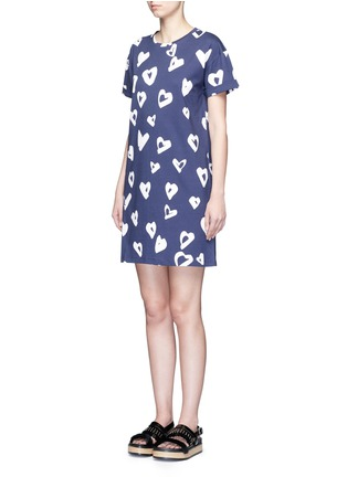 Front View - Click To Enlarge - Etre Cecile  - 'Heart' print jersey T-shirt dress