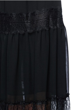 Detail View - Click To Enlarge - Nicholas - Eyelash lace panel chiffon dress