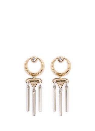 Main View - Click To Enlarge - Eddie Borgo - 'Sibyl Day Drop' cubic zirconia moon earrings