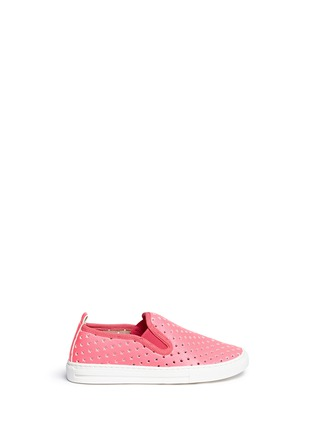 Stella Mccartney Kids - 'Leo' star perforation kids skate slip-ons